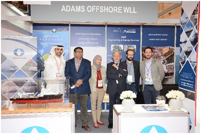 The Team of ADAMS & DELTA FORST Int'l during the GIF in Bahrain.